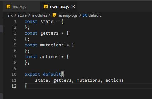 screenshot file esempio.js